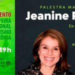 Jeanine Pires palestra no lançamento da Feira Internacional de Turismo da Amazônia
